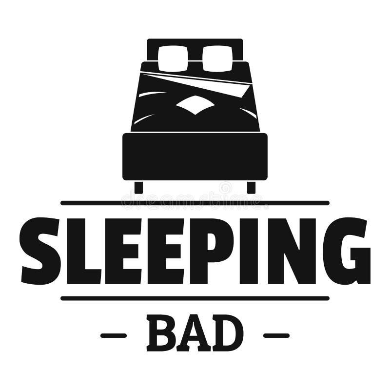 Mún logotipo el dormir, estilo negro simple ilustración del vector