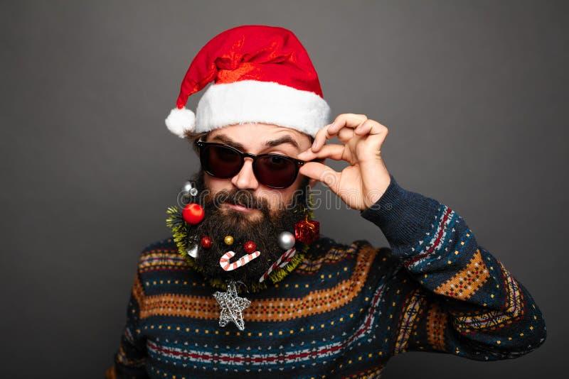 Mún Papá Noel moderno elegante imágenes de archivo libres de regalías