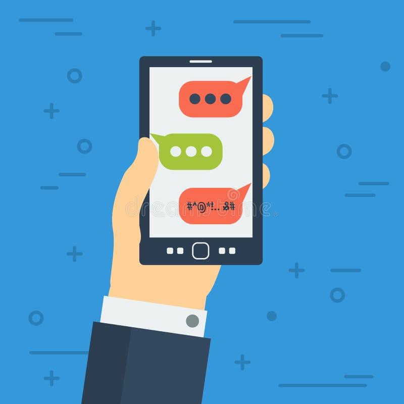Mún SMS en monitor del teléfono móvil libre illustration