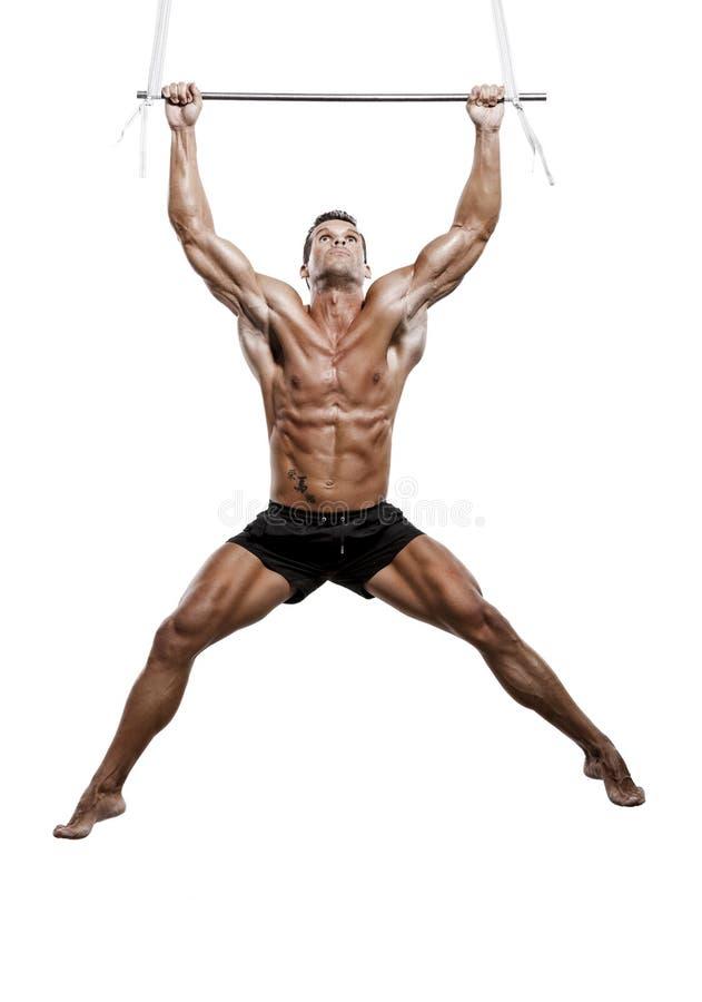 Músculo que faz elevações foto de stock royalty free