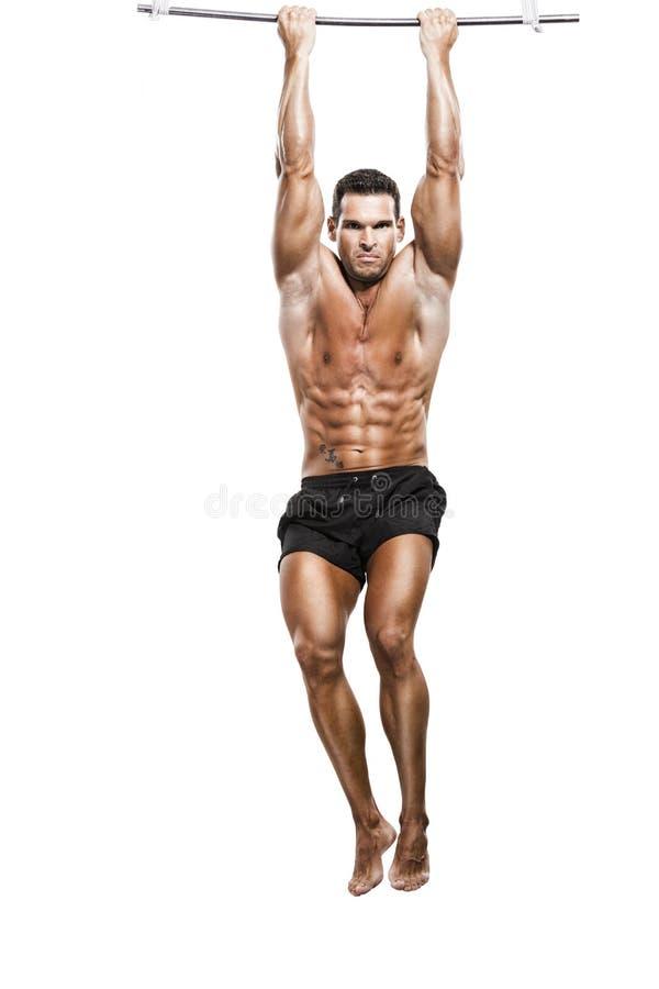 Músculo que faz elevações fotos de stock