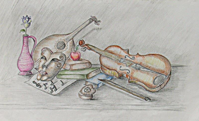 A música é paixão ilustração do vetor