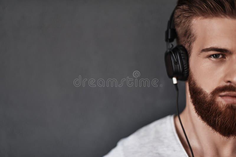 A música é sua motivação fotografia de stock