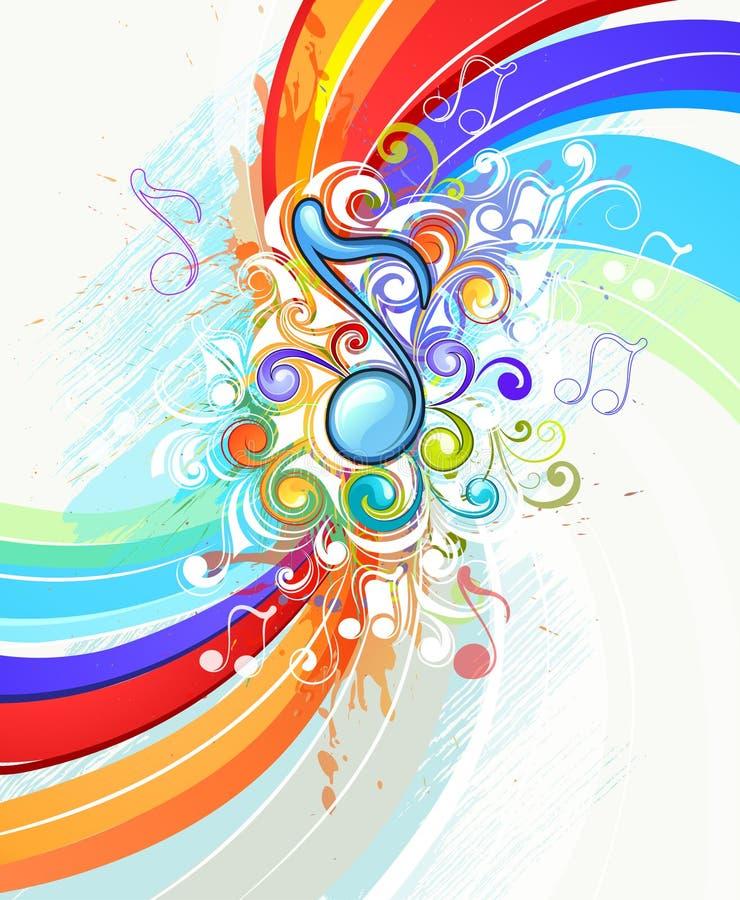 Música abstracta del arco iris stock de ilustración