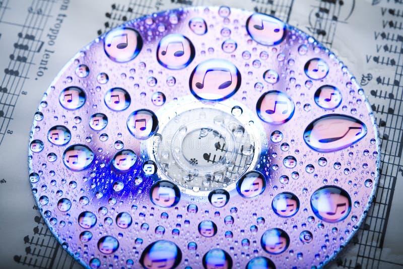 Música & água imagem de stock