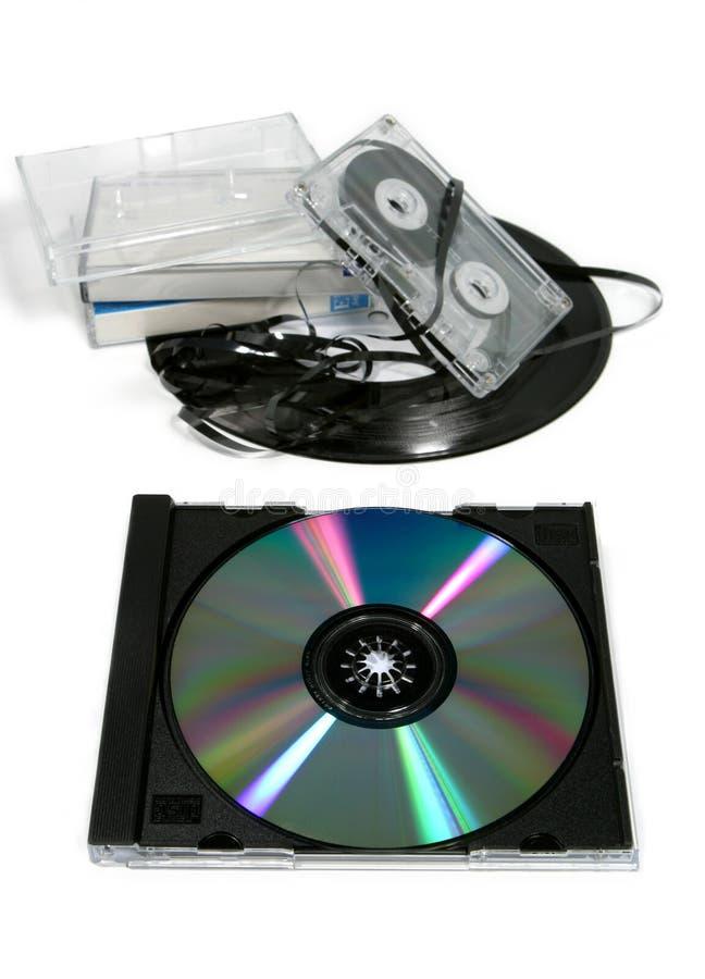 Música analogica contra Digitaces 2 fotografía de archivo libre de regalías