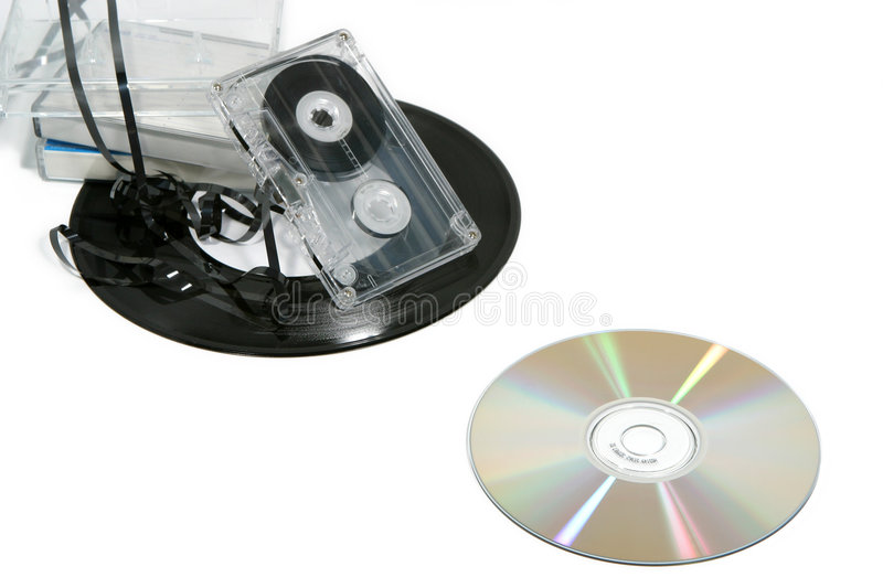 Música analogica contra Digitaces 3 fotos de archivo libres de regalías