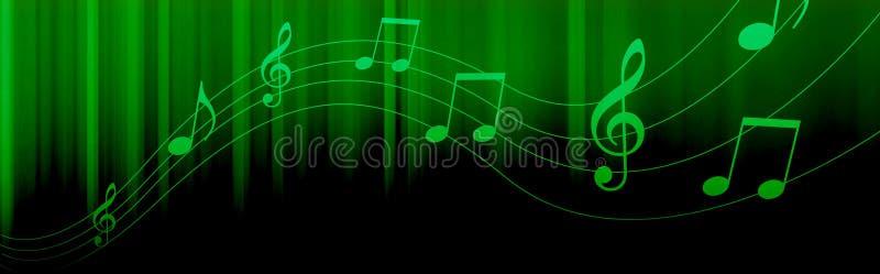 A música anota o encabeçamento ilustração stock