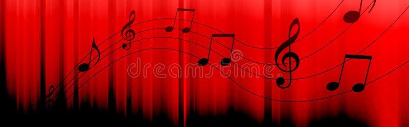 A música anota o encabeçamento ilustração royalty free