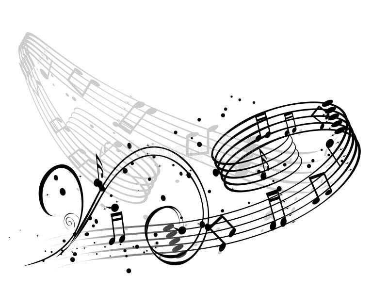 A música anota o fundo ilustração stock