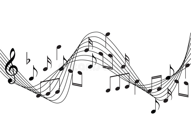 A música anota o fundo ilustração royalty free