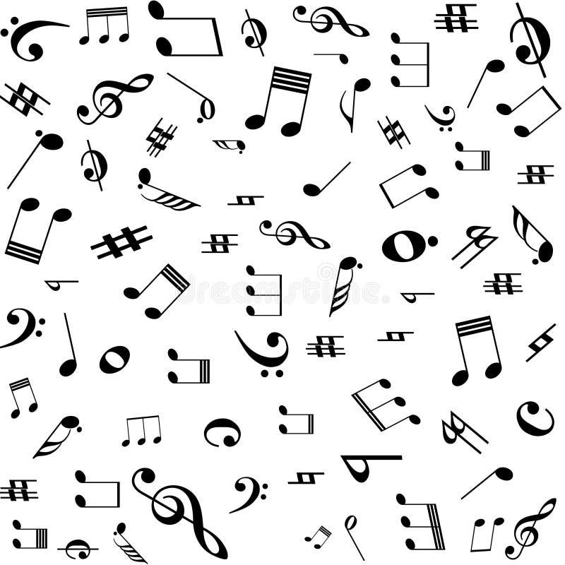 A música anota o teste padrão ilustração royalty free