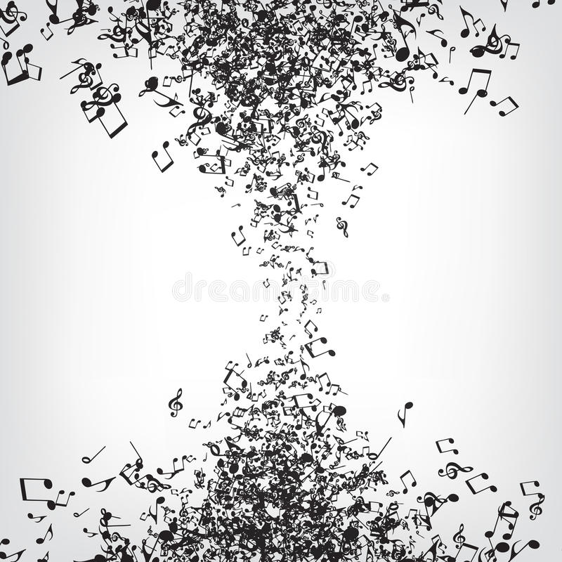 A música anota a textura ilustração do vetor