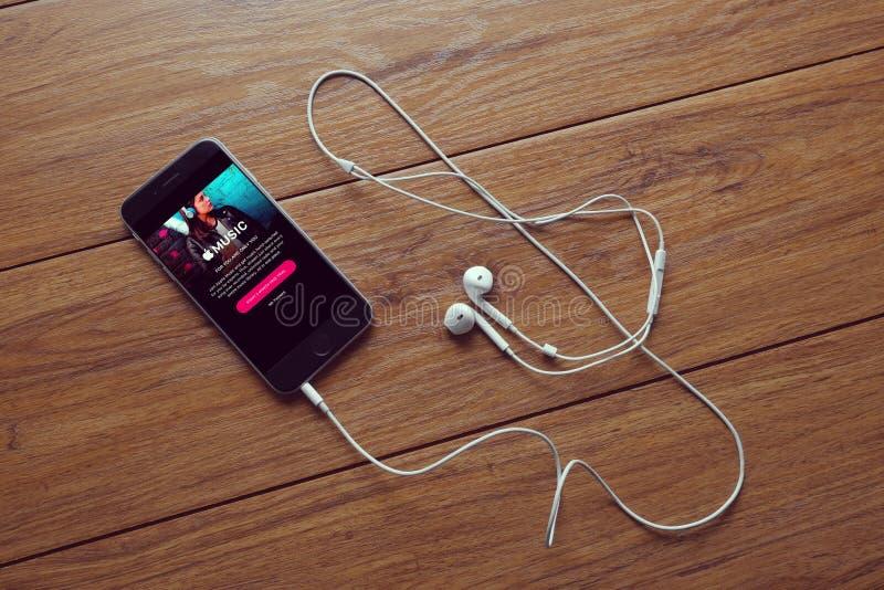 Música App imagen de archivo libre de regalías