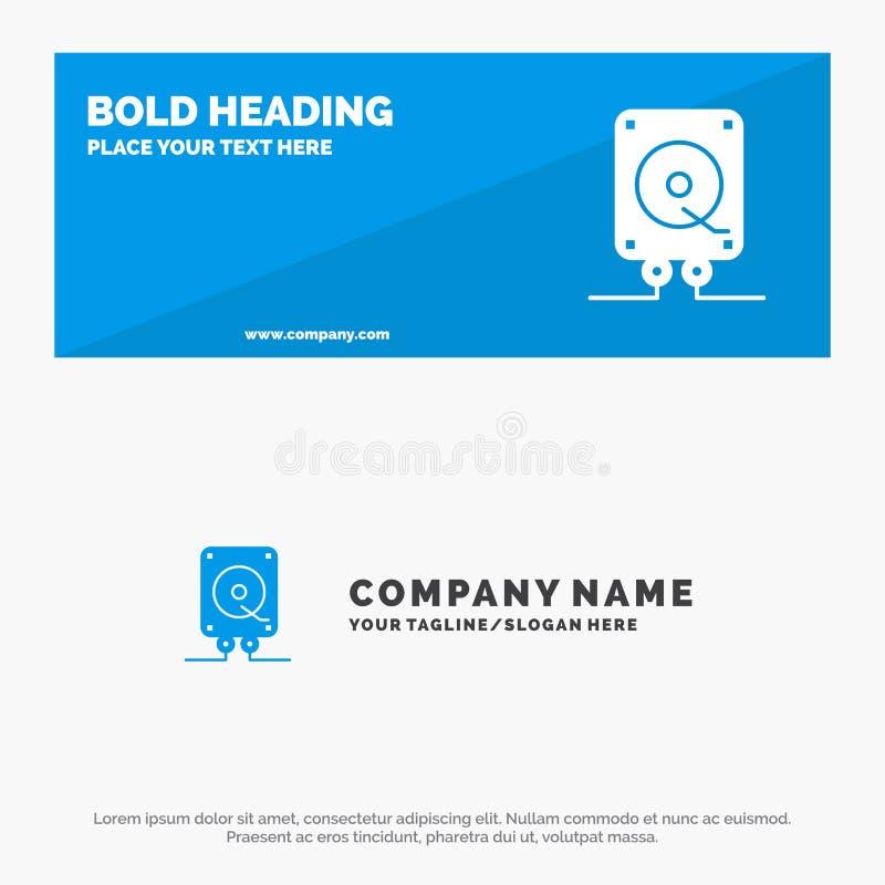 Música, audio, computação, bandeira contínua do Web site do ícone do jogo e negócio Logo Template ilustração stock