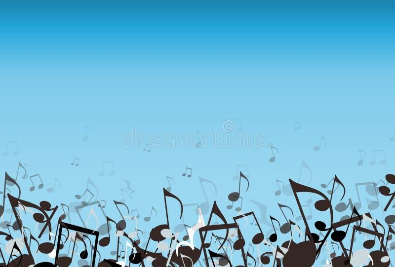 Música azul stock de ilustración