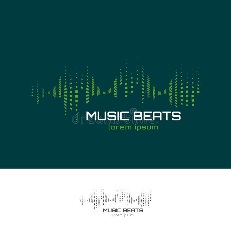 A música bate o logotipo ilustração stock