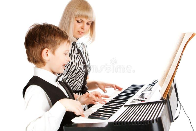 Música blanco y negro foto de archivo