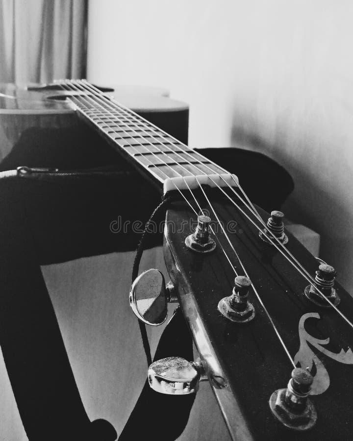 Música blanco y negro foto de archivo libre de regalías