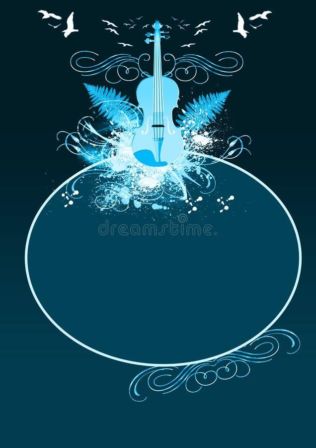Música clásica ilustración del vector