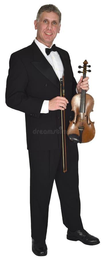 Música clásica del violín, Muscian, violinista, músico, aislado fotografía de archivo libre de regalías