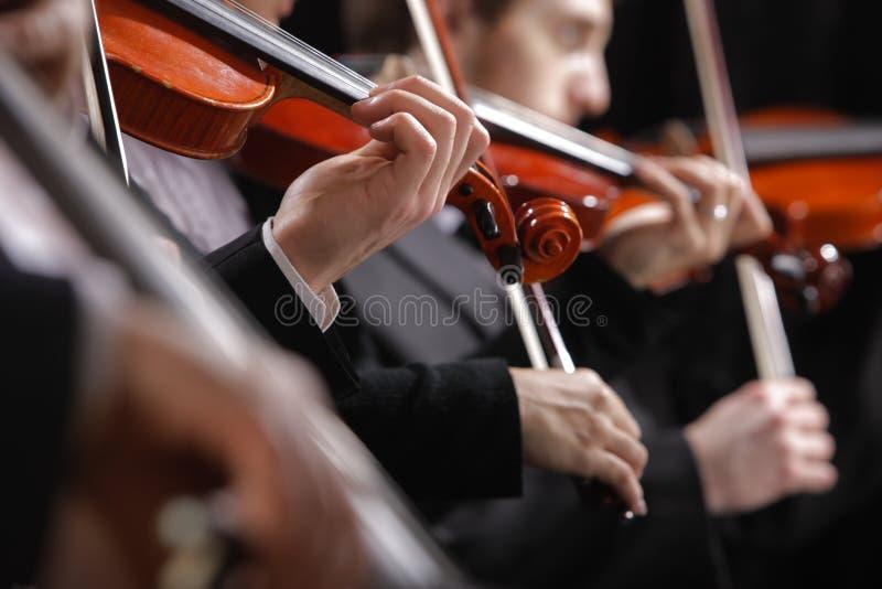 Música clásica. Violinistas en concierto fotografía de archivo libre de regalías