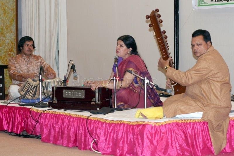 Música clássica clara Surya-Hindustani de Rekha imagens de stock royalty free