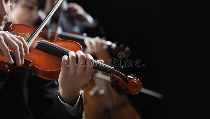 Música clássica. Violinistas no concerto fotos de stock royalty free