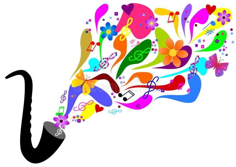 Música colorida ilustración del vector