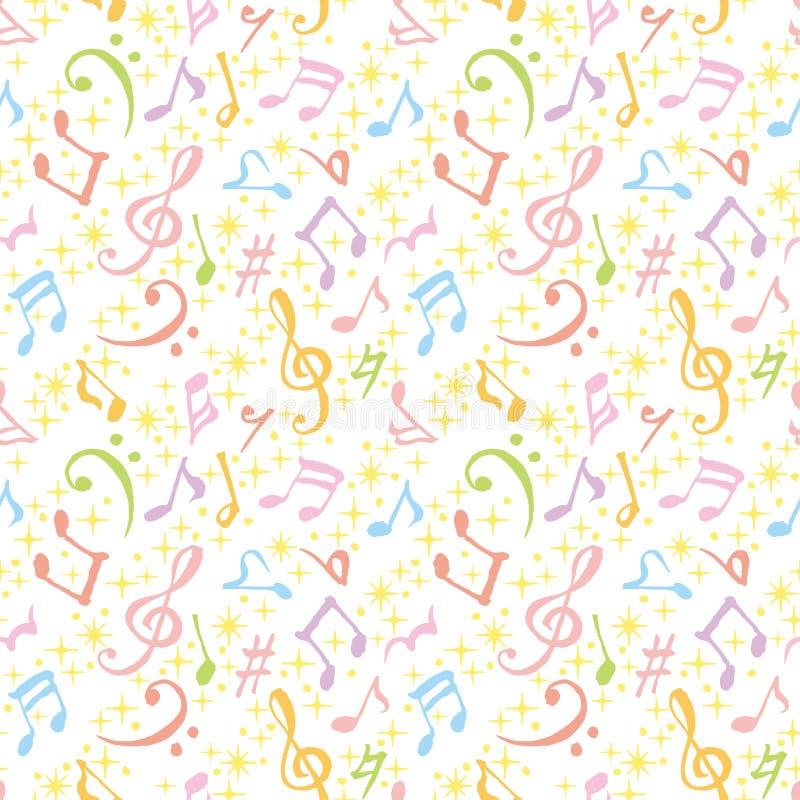 A música colorida anota o fundo Ilustração desenhada mão ilustração royalty free