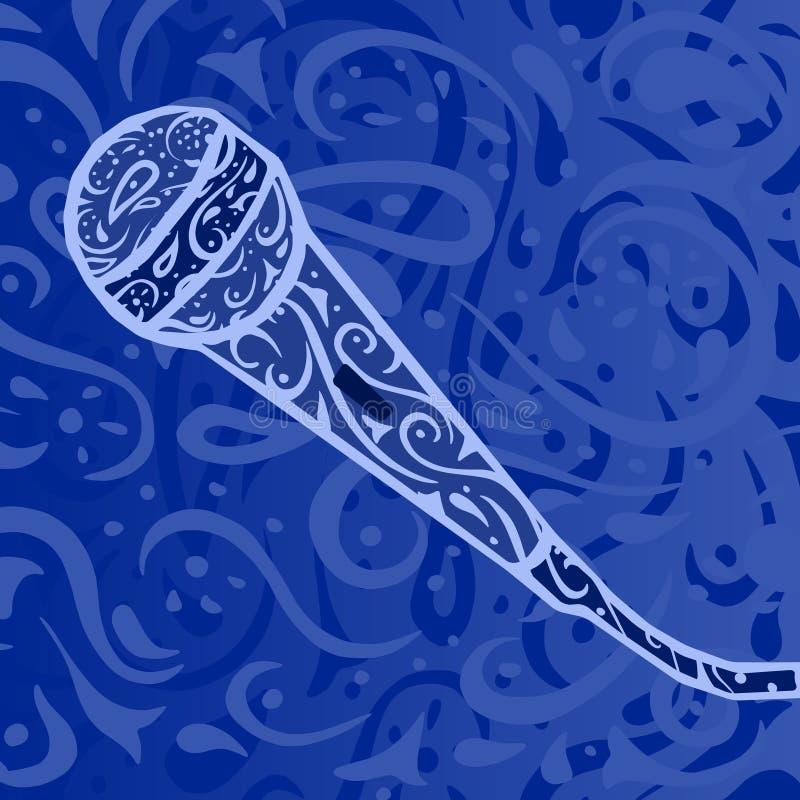 Música country - micrófono stock de ilustración