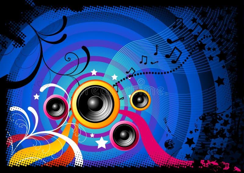 Música curvada ilustração royalty free