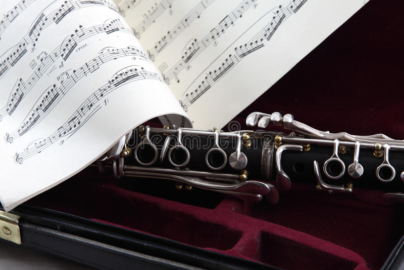 Música da caixa do Clarinet imagem de stock