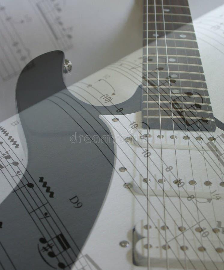 Música da guitarra elétrica foto de stock