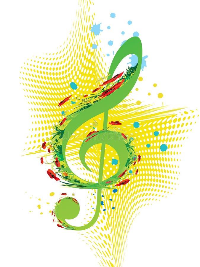 Música da mola ilustração royalty free
