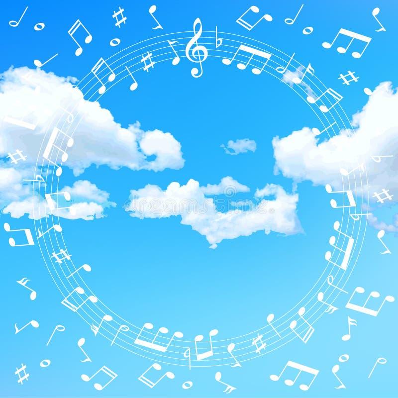 Música da nota da música ilustração royalty free