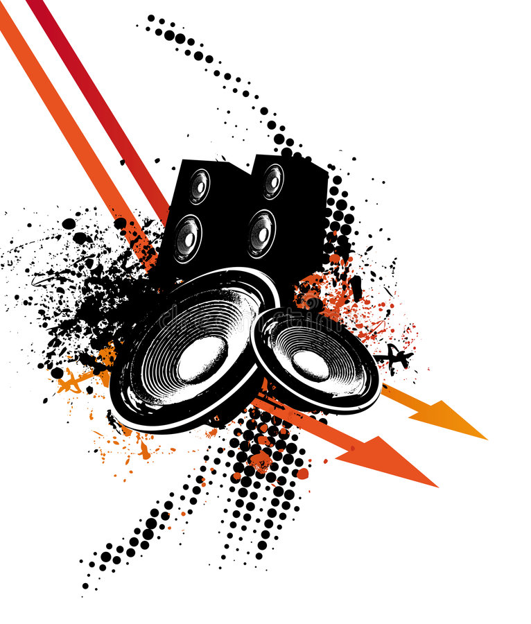 Música da seta ilustração royalty free
