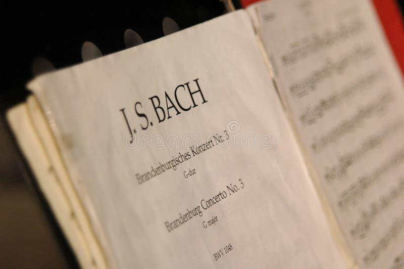 Música de Bach imagen de archivo libre de regalías