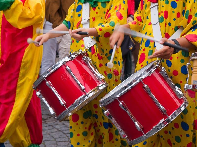 Música de Cranival da samba de Rio Brasil imagem de stock