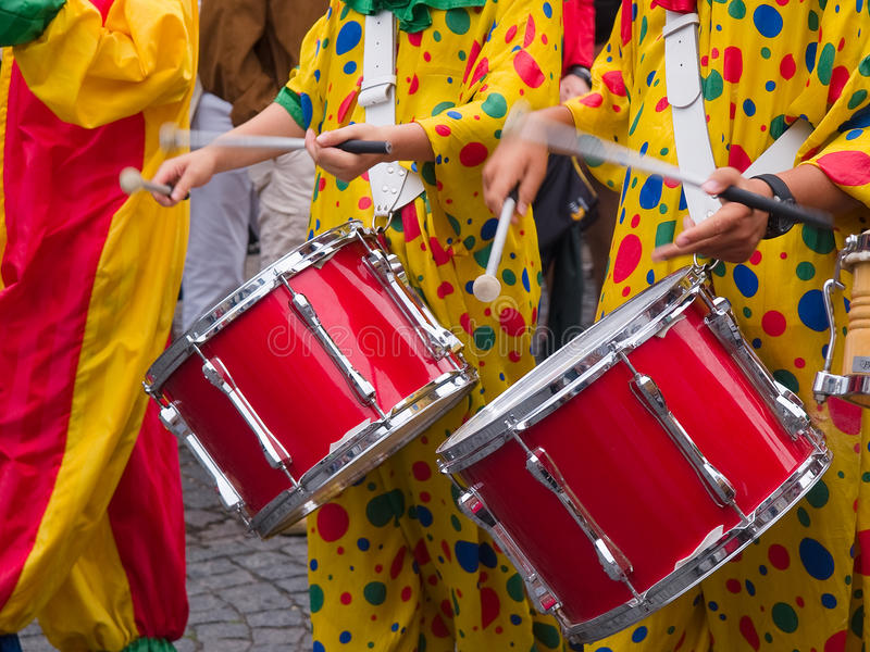Música de Cranival de la samba de Río el Brasil imagen de archivo