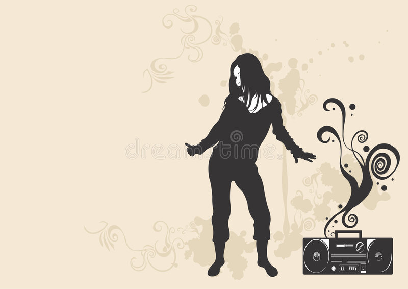 Música de danza stock de ilustración