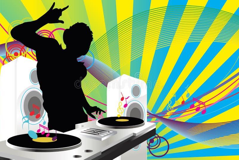 Música de DJ ilustración del vector
