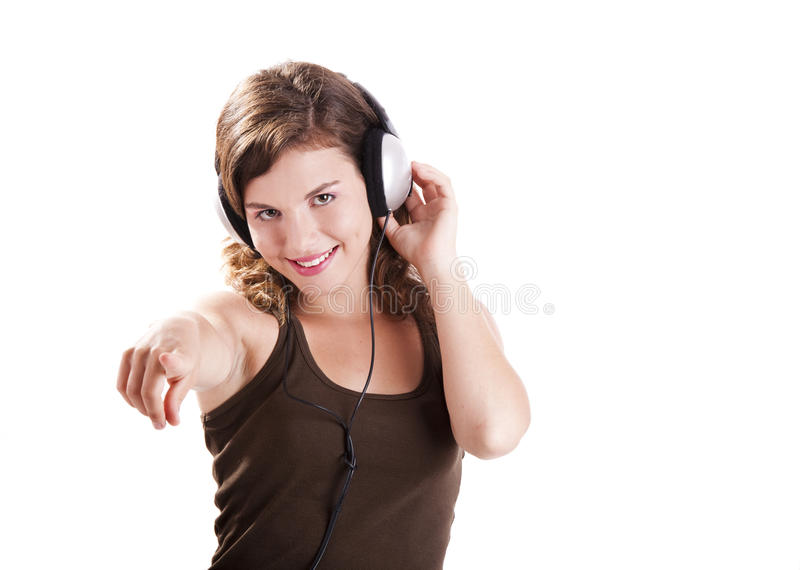 Download Música de escuta imagem de stock. Imagem de mão, gorgeous - 16872889