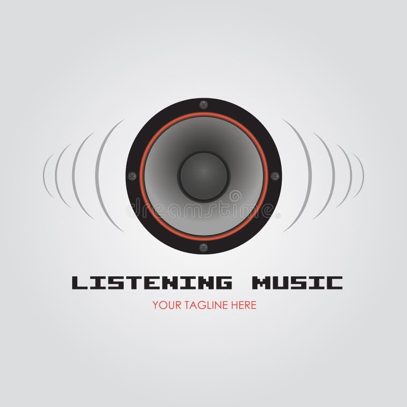 Música de escuta fotografia de stock