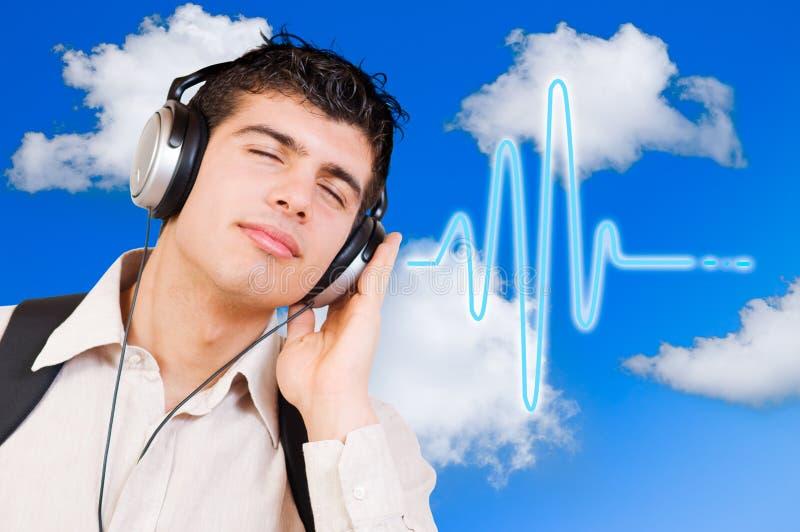 Música de escuta foto de stock royalty free