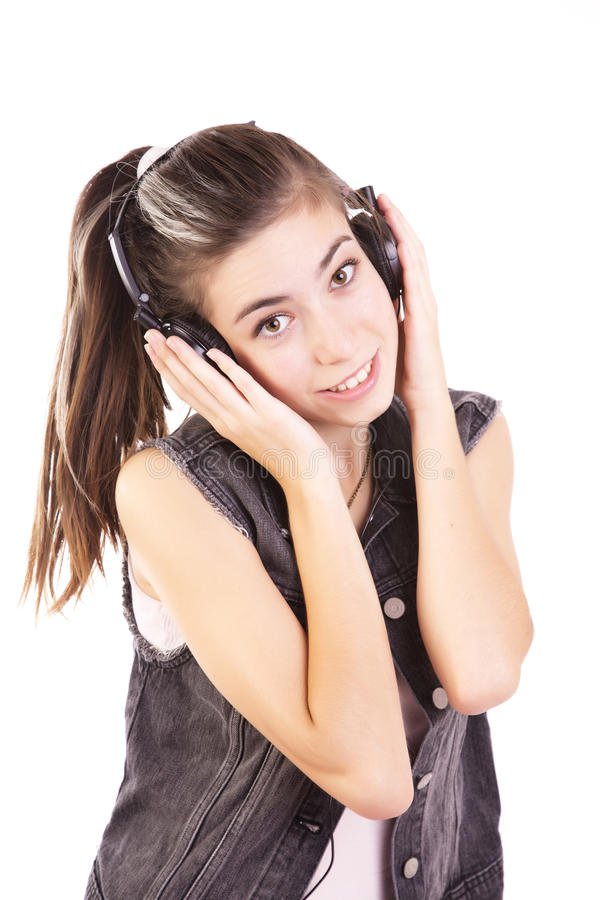 Música De Escuta Adolescente Fotografia de Stock Royalty Free