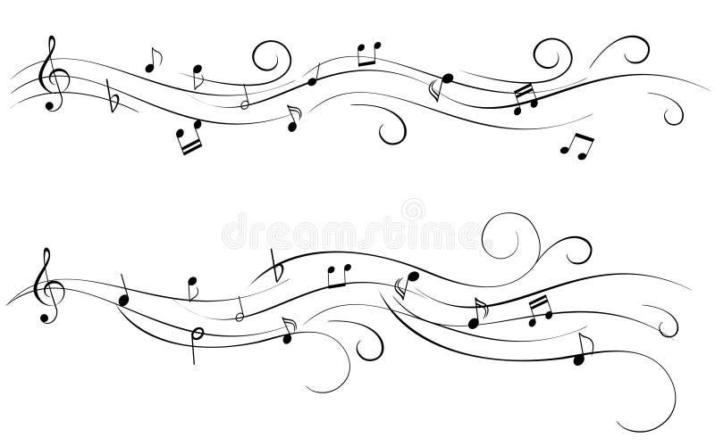 Música de folha ilustração royalty free