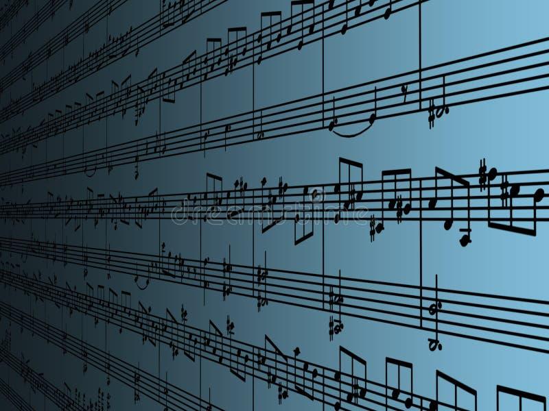Música de folha ilustração do vetor