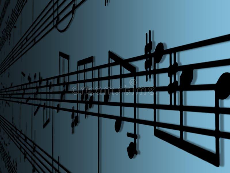 Música de folha ilustração stock