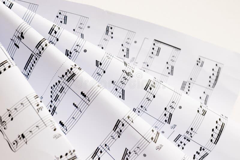 Música de folha foto de stock